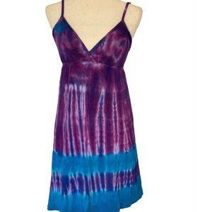 Lucky brand beach dress tye dye size S/P